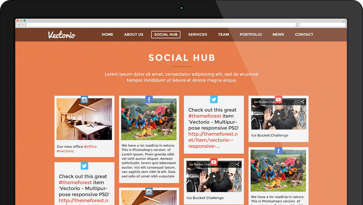 vectorio social hub