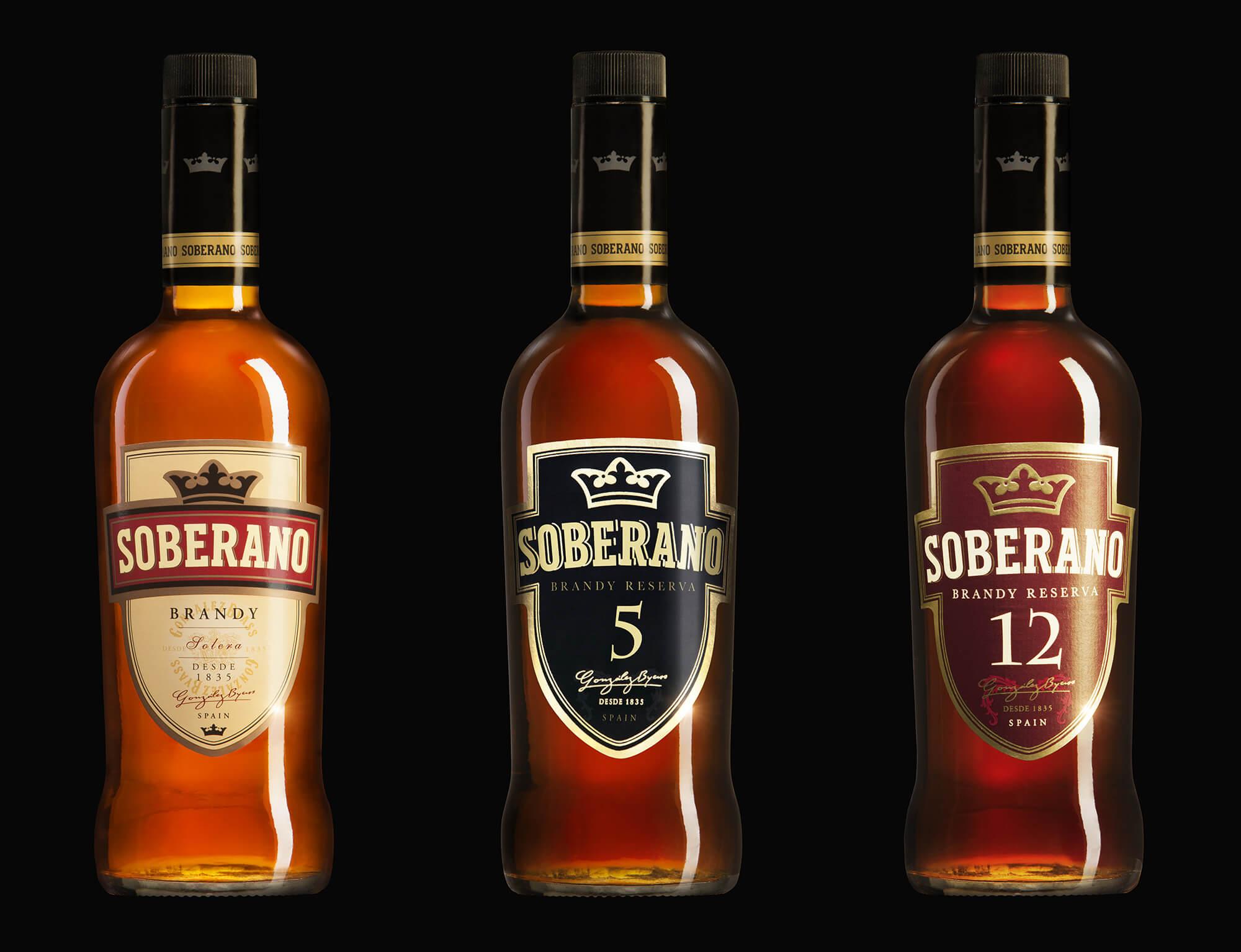 soberano bottles