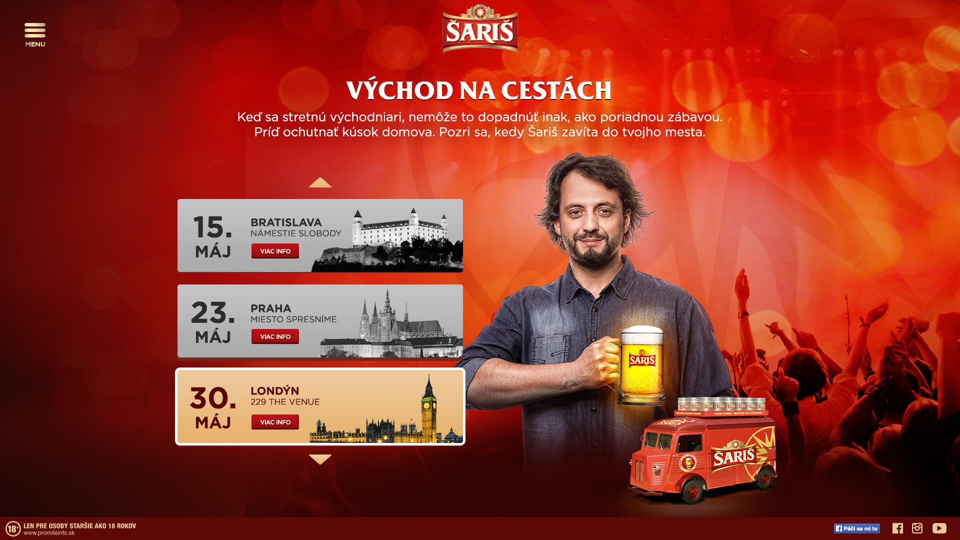 saris event screen