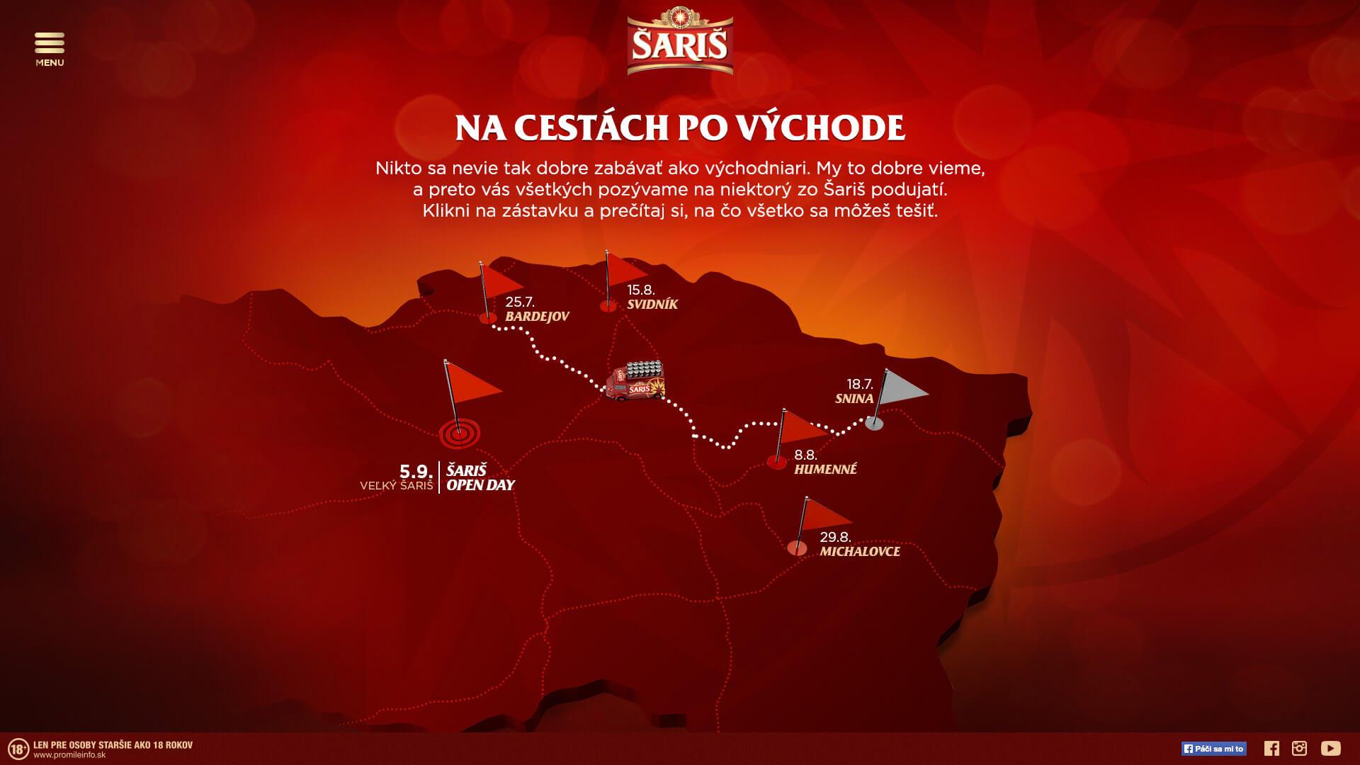 saris map screen